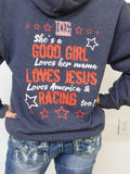 Loves Her Mama & Racing Too! - Hoodie