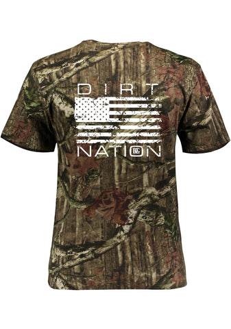 Realtree Camo Dirt Nation Patriotic Racing T Shirt