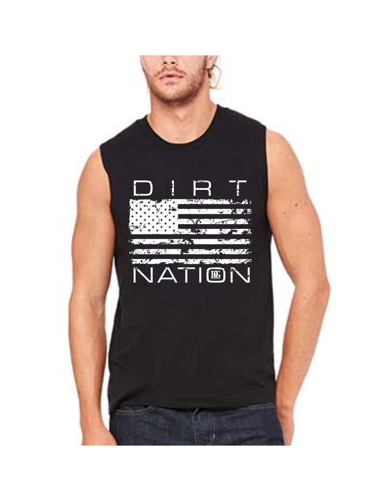 Dirt Nation Racing Patriotic Racing Sleeveless Shirt