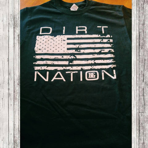 Dirt Nation Patriotic Racing Youth T Shirt