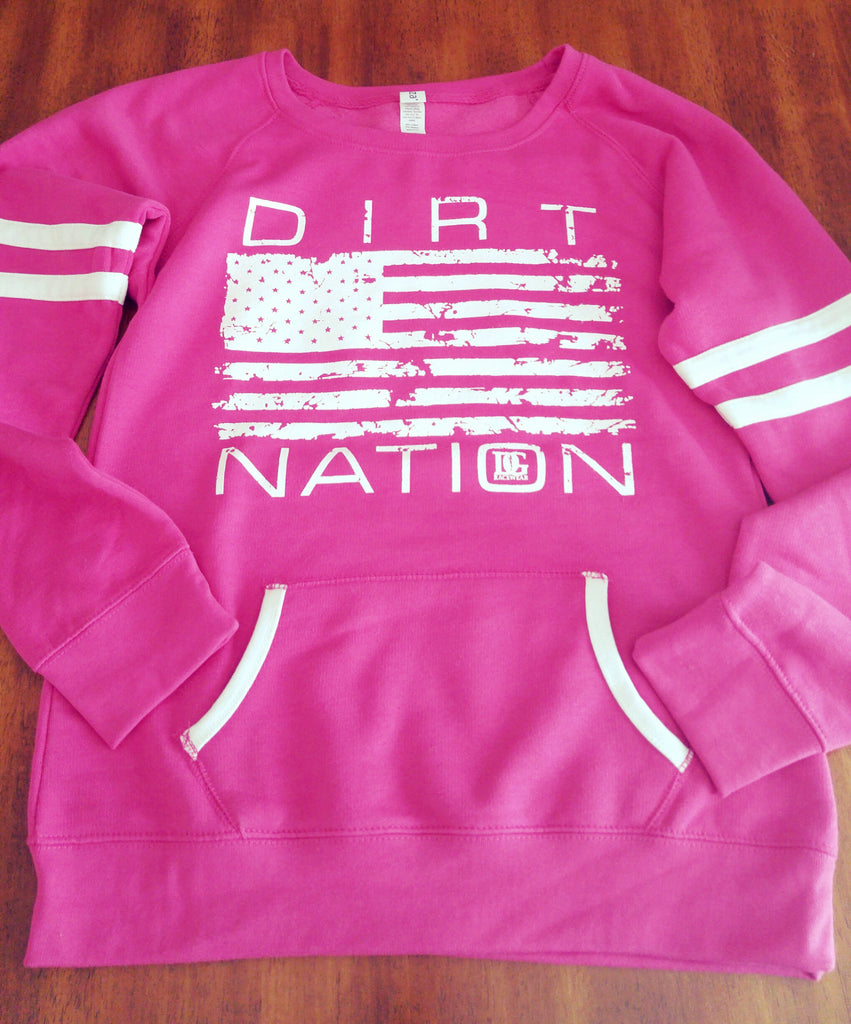 "Dirt Nation Pink ""Crew Neck"""
