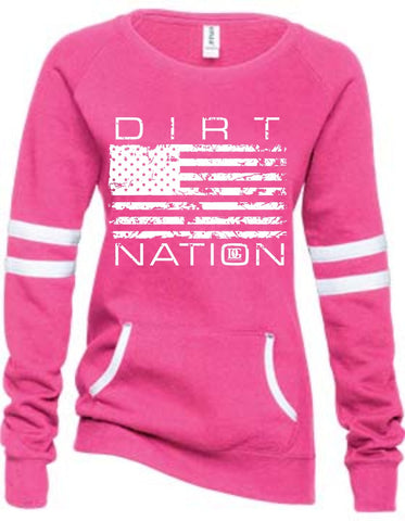 Dirt Nation Patriotic Racing Fleece Pullover
