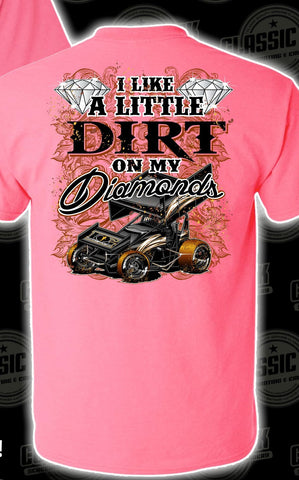 Dirt on My Diamonds Sprint Car T-Shirt
