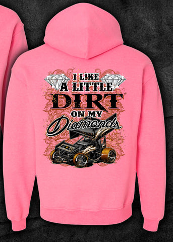 Dirt on My Diamonds Sprint Car Hoodie