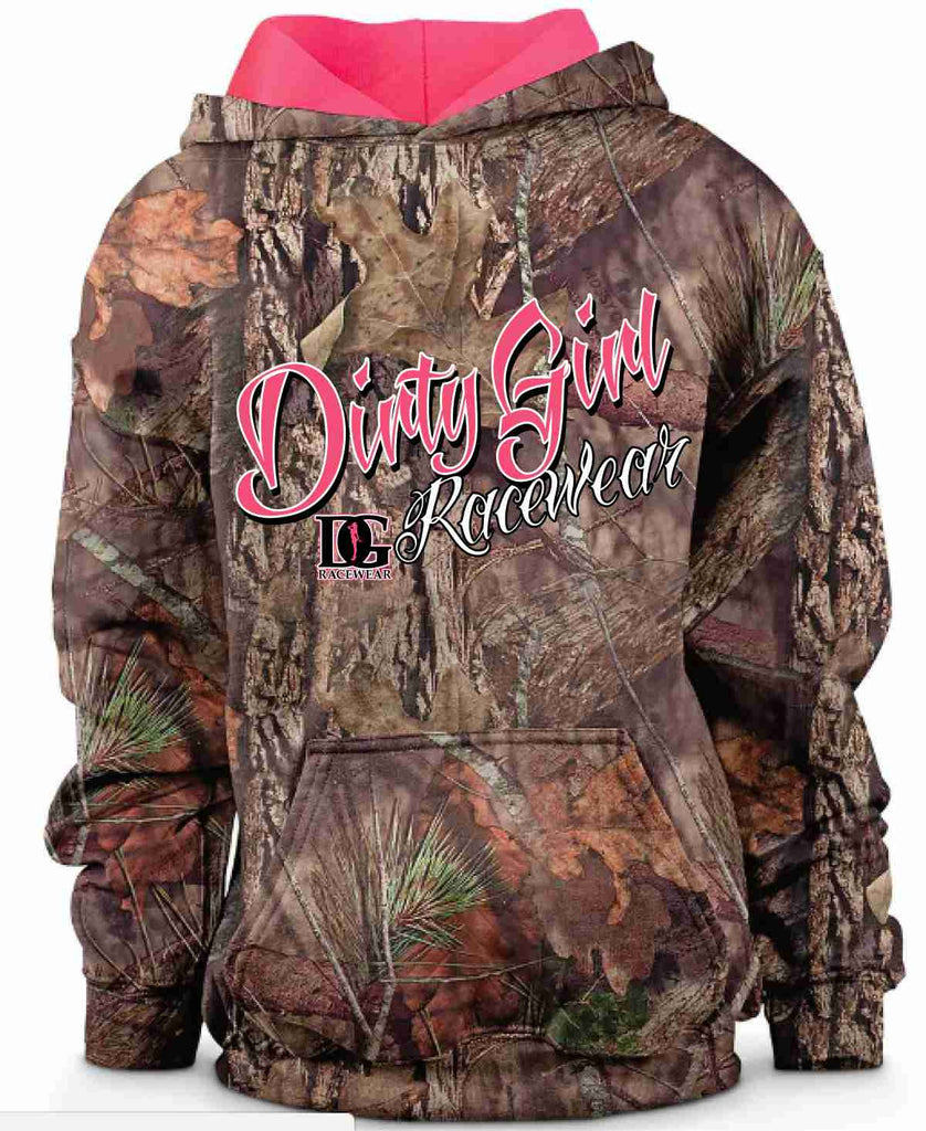 Camo Dirty Girl Racewear Pink Lined Hoodie