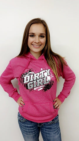 Dirty Girl -  Dirt Late Model & Dirt Mod Glitter Hoodie