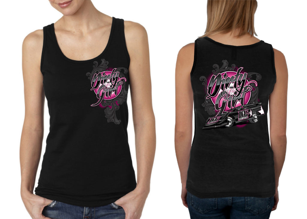 "Dirt Late Model ""Dirty Girl"" Tank Top"