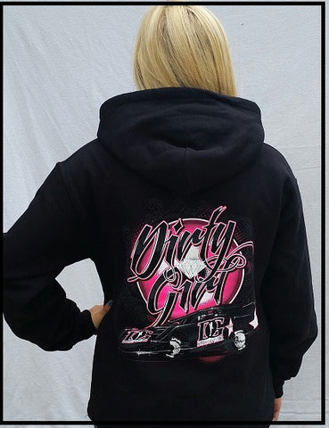 "Dirt Late Model - ""Dirty Girl"" Hoodie"
