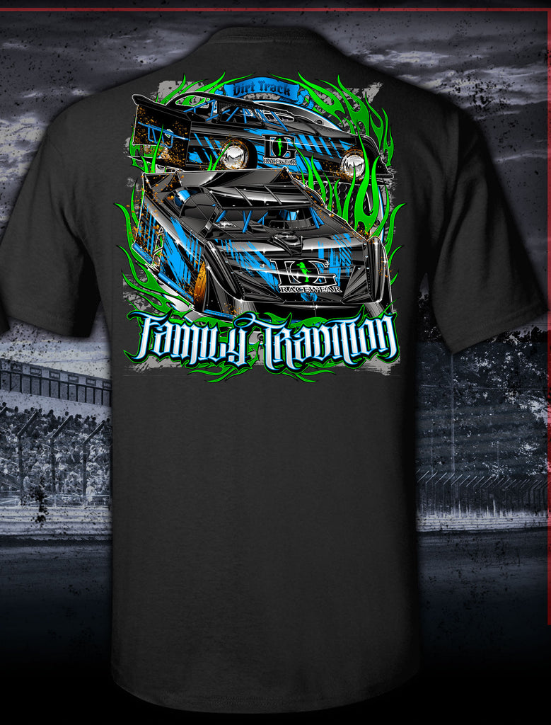 Family Tradition Black Late Model T-Shirt