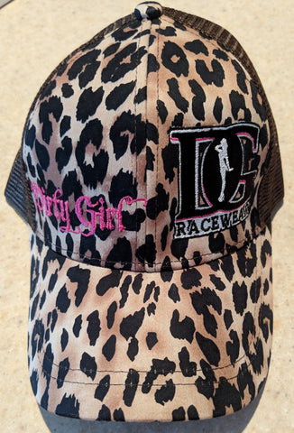 Dirty Girl Racewear Cheetah Snapback Ponytail Hat