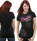 Dirt Late Model Wrap Around Design Ladies Cut T-Shirt