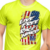 Live Free Race Hard Dirt Late Model T-Shirt - 2 Color Choices