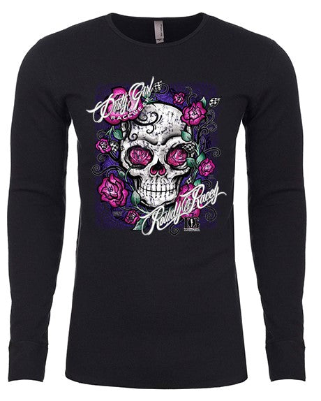 Rowdy & Racey - Skull & Flowers Long Sleeve Thermal