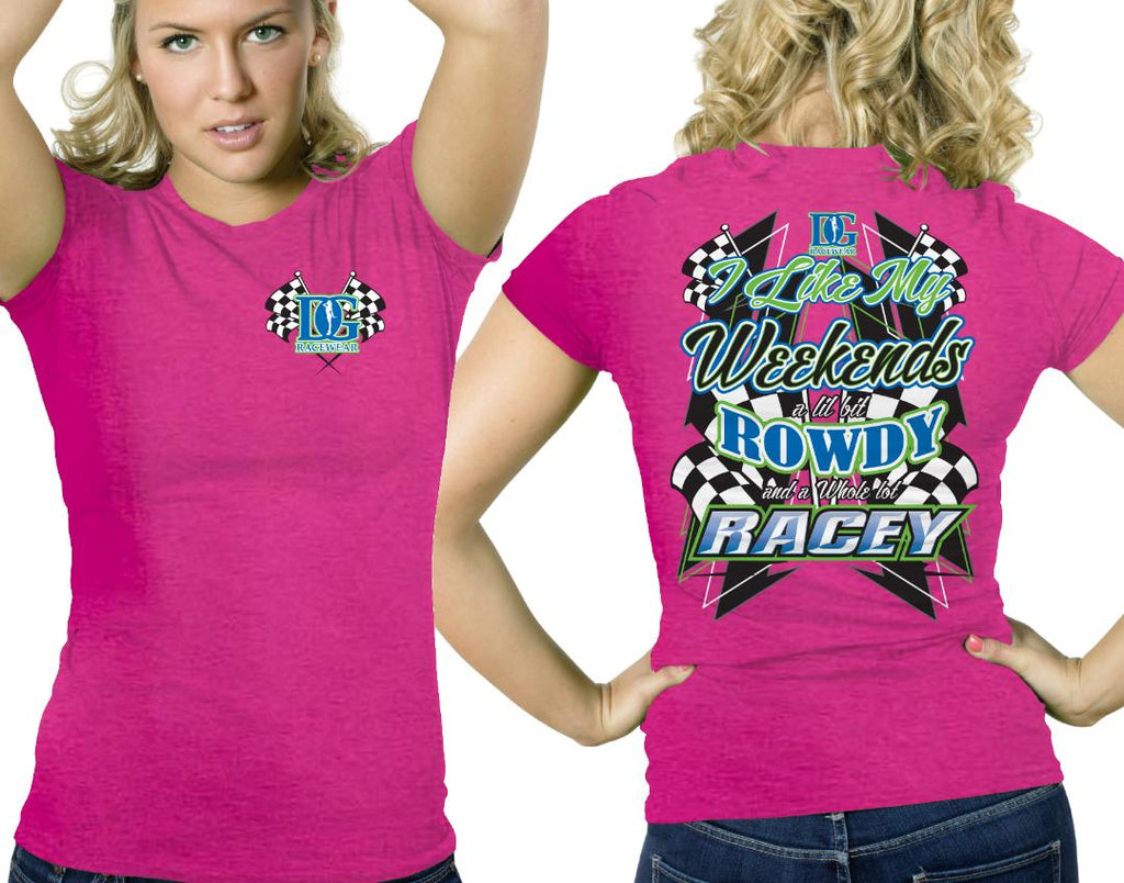 Rowdy & Racey Dirt Track Racing T-Shirt - 2  Color Choices