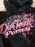 "Youth ""Dirt Track Princess"" Glitter Hoodie"