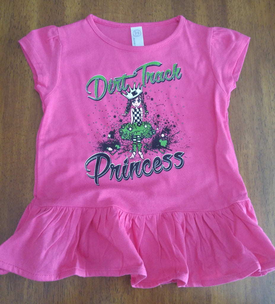Dirt Track Princess Ruffle Toddler Shirt