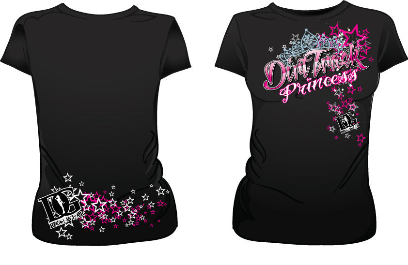 Womens Dirt Track Princess T-Shirt