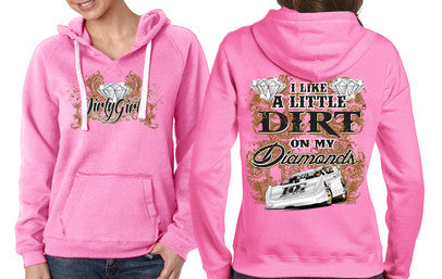 Dirty Girl Racewear Dirt on My Diamonds Dirt Late Model Hoodie