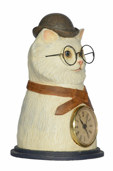 CLYDE CAT TABLE TOP CLOCK, as a decor