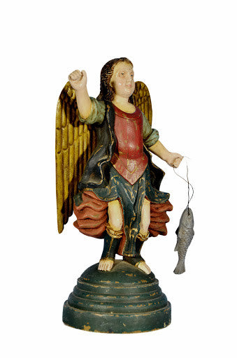 SPANISH ARCHANGEL RAPHAEL WITH FISH
