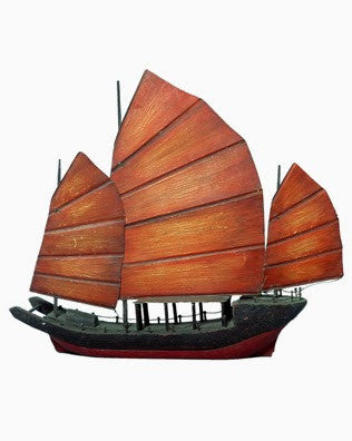 CHINESE JUNK BOAT, LARGE