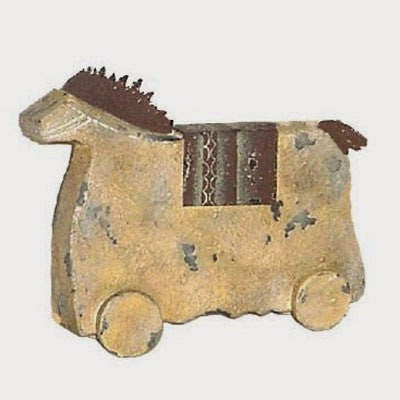 INDIAN HORSE PT WITH SADDLE, SMALL