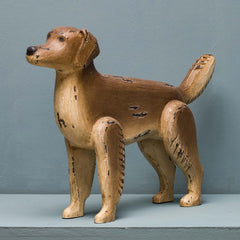 FOLK WOODEN GOLDEN RETRIEVER
