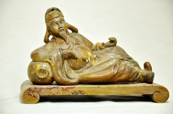 RECLINING LI BAI, XIAN WOOD