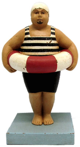 BEARDED FAT MAN WITH FLOAT