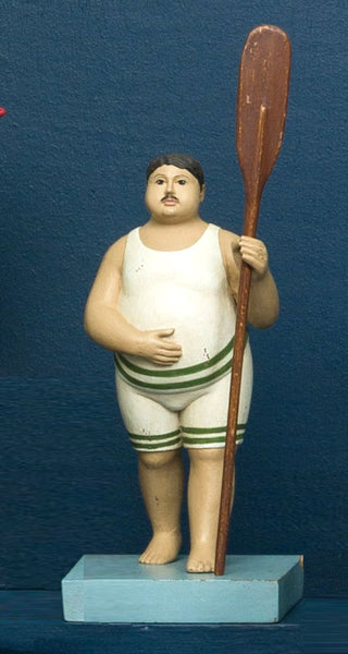 FAT MAN WITH OAR