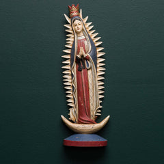 Our Lady Of Guadalupe On Half Moon