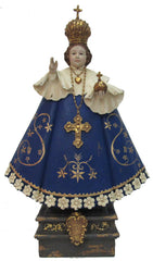 Santo Nino, blue & gold