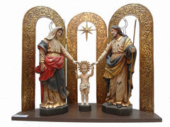 BRAZILIAN HOLY FAMILY WITH TRIPTYCH