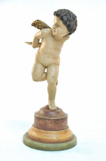 Putto Candleholder, Left (with Glass)