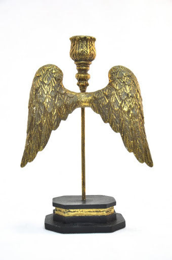 ST. MICHAEL WINGS CANDLEHOLDER