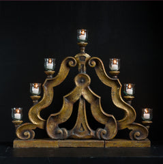 ANDALUSIA 3-PART CANDELABRA LRG.