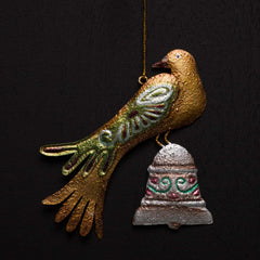 CHRISTMAS DOVE WITH BELL ORN