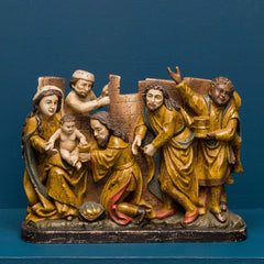 MEDIEVAL NATIVITY ON BASE