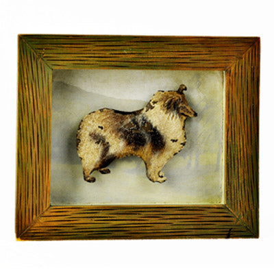 ROUGH COLLIE SHADOW BOX