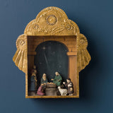RETABLO WITH MINI NATIVITY SET