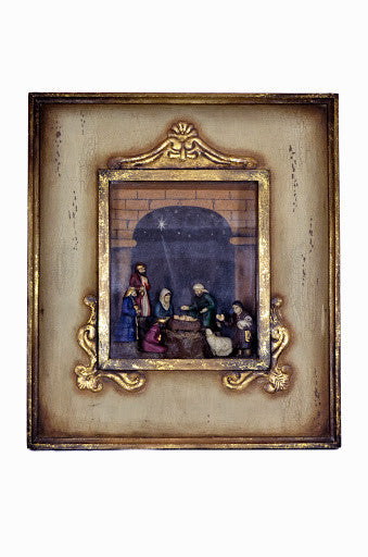 FRAMED DEL CARMEN NATIVITY SET