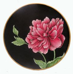 Peony Wooden Plate
