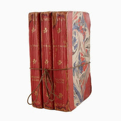 VINTAGE BOOK BOX, RED MULTI