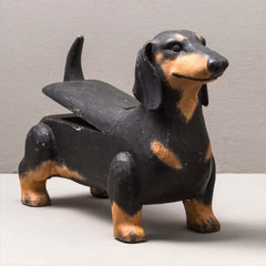 DACHSHUND DOG BOX, BLACK