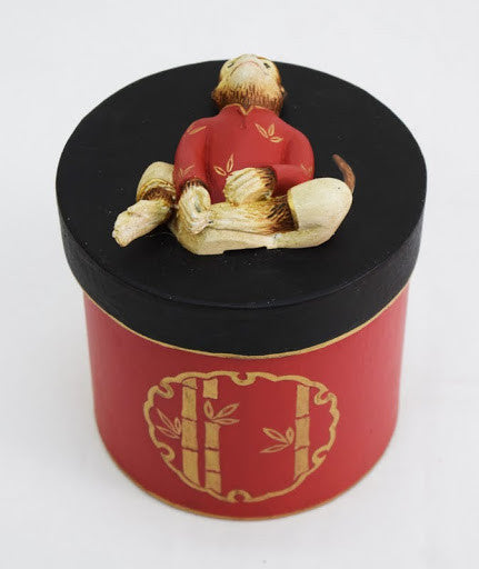 MONKEY ON ROUND PM BOX 5½ DIA