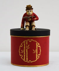 MONKEY ON ROUND PM BOX 6½ DIA