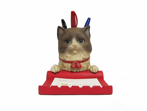 Carl Cat Cardholder and Pencil Holder