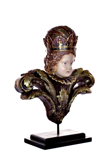 Mounted Child with Crown