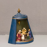 MINI CURVED FLANDERS NATIVITY, BLUE