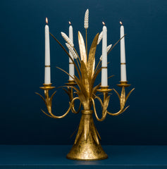 WHEAT 4- CUP CANDELABRA